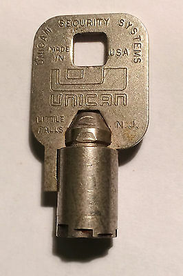 Unican Security Systems Tubular  Key for vending machines or other  # 05142  USA