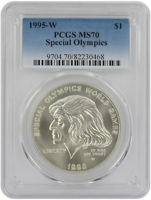 1995-W Special Olympics Silver Commemorative Dollar MS70 PCGS Mint State 70