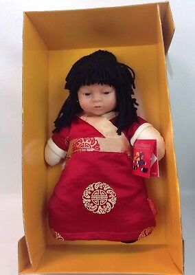 Anne Geddes The Baby Doll Collection Asian Chinese Oni Doll 1999 New