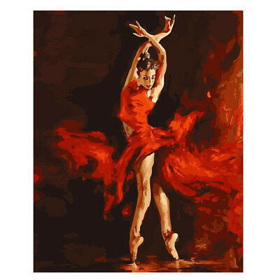 Dancing Beauty DIY Paint By Number Kit Digital Oil Painting Canvas Home Decor