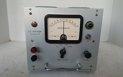 Vintage PYE 11370 DC Amplifier with microvolts meter