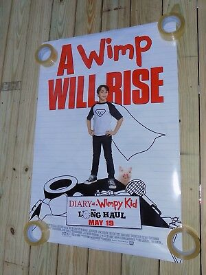 """2017 Diary of A Wimpy Kid Long Haul Movie Poster 27"""" X 40"""" Official Double Sided"""