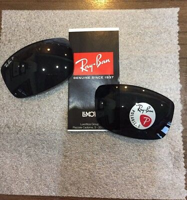 NEW Ray Ban Genuine OEM RB3498 Polarized GREY 64mm Sunglasses Replacement Lenses
