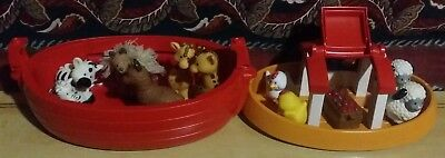 FISHER PRICE NOAH'S ARK Little People WITH ANIMALS