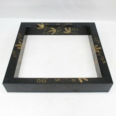 D929: Japanese lacquerware sunken hearth frame ROBUCHI with pine needle MAKIE