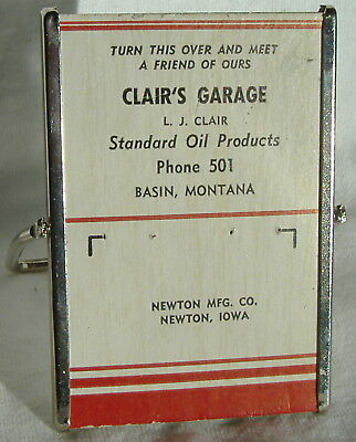 Clair's Garage Standard Oil Products Basin Montana Advertising Mirror Stand
