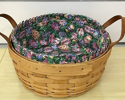 Longaberger Darning Basket and Easter Egg Liner 2000