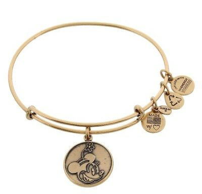 MINNIE MOUSE Alex and Ani Bracelet Disney Park Exclusive Retired Gold Charm
