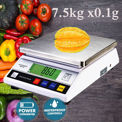 7.5kg x 0.1g Kitchen 7500g Digital LCD Electric Food Balance Weight Scale Lab