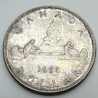 1952 Canada One 1 Dollar FWL Full Water Line Circulated Canadian Coin C698