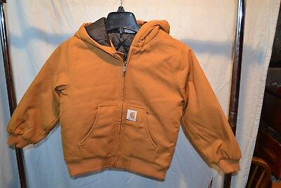 Carhartt Brown Jacket CP8417 Insulated Lining Boys/Youth/Kids/Teenager Sizes NWT