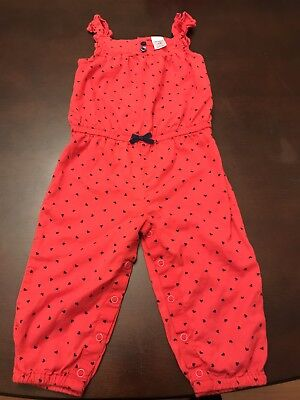 Carter's Size 18 Month Baby Girl One Piece Mini Hearts Romper