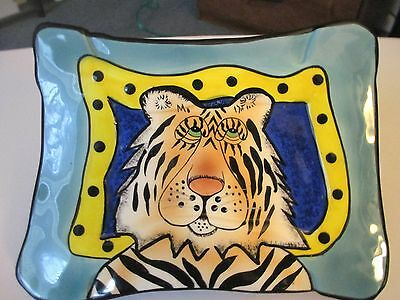 Lynda Corneille SWAK Walter the Tiger Sushi/Bowl & Wall Plate