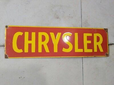 """CHRYSLER Porcelain Sign SIZE 24"""" X 7"""" INCHES"""