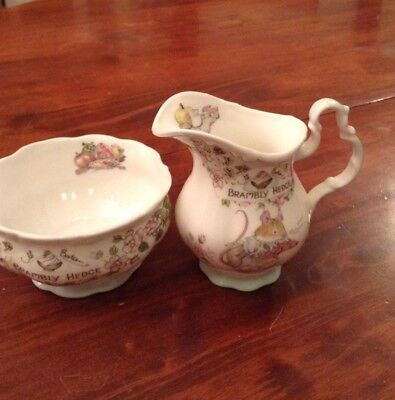 Brambly Hedge Royal Doulton Sugar And Cream Set Made In England