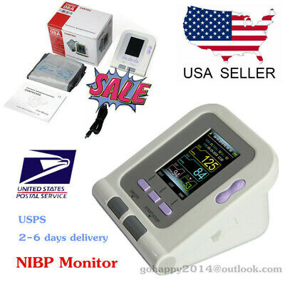 CONTEC 08A digital Electronic color LCD Blood pressure monitor NIBP adult cuff