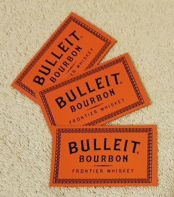 Bulleit Frontier Whiskey 3M Adhesive Patches  Set of 3 Three