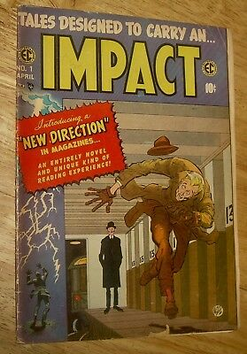 IMPACT Comics #1 original EC new direction *classic* KRIGSTEIN Master Race story