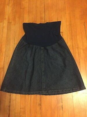 Motherhood Maternity denim skirt size M