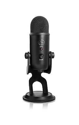Blue Yeti USB Vocal Podcast Microphone Compatible with Mac PC, Blackout Edition