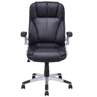 Office PU Leather High Back Executive Swivel Computer Work Chair Chair Black US