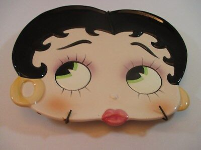 Vintage 1981 Betty Boop Porcelain Ceramic Plate Wall Decor, Ready To Hang! 10X9""