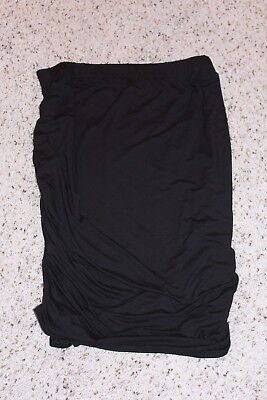 Women's Xl Aglow Black Stretch Cinched Maternity Skirt-  Nwt