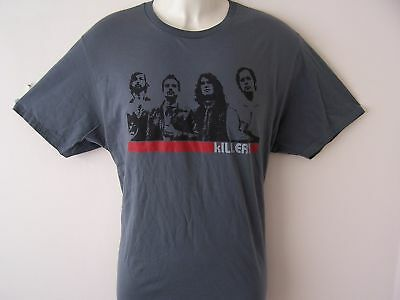 """*New* The Killers Official Merchandise Grey Tour T Shirt Xl 44"""" Chest"""