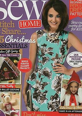 Sew Home And Style Magazine Dec 2013 issue 54 with pattern K6124