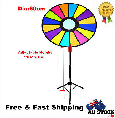 Spinning Prize Wheel 16 Slots with Color Dry Erase Trade Show Fortune Spin Game