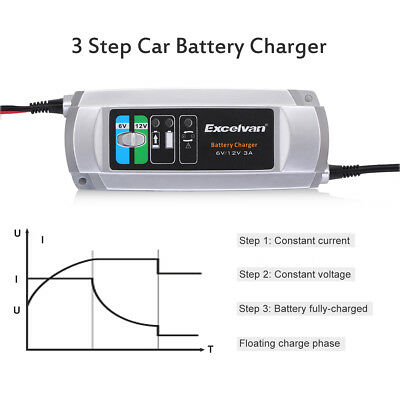 3A Trickle Car RV Motorcycle RasenmäHer Batterie Charger/Maintainer 6V/12V
