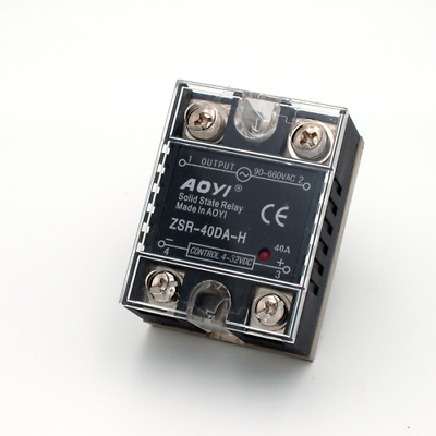 Aoyi Solid State Relay - 40A Heavy Duty High Performance -  Dual SCR Output SSR