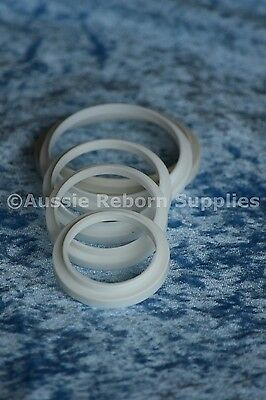Reborn Baby Doll Supplies Neck Ring 40 50 55 58 60 65 70 74 78mm Flange 1 ONLY
