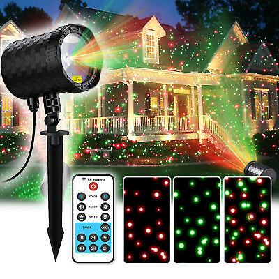 12 muster led laser projektor licht gartenlicht landschaft dekoration party xmas eur 29 99. Black Bedroom Furniture Sets. Home Design Ideas
