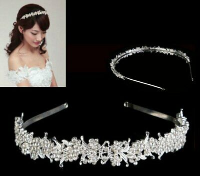 Bridal Wedding Rhinestone Crystal Tiara Crown Hair Band Headband Prom Pageant