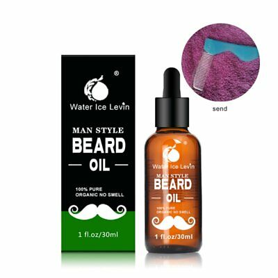 Homme Huile pour Barbe Moustache soins Kit Replenishment Moisture Soothing+Comb