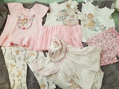 Baby Girls BAMBI Clothes Bundle x 6 items NWT size 0
