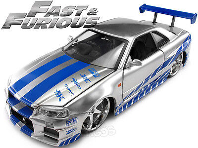Fast & and Furious - Brian's Nissan Skyline GT-R (R34) 1:24 Scale Diecast Model