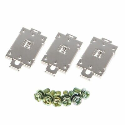 3 Pcs Single-phase Solid State Relay 35mm DIN Fixed Rail Mounting Clamp Bracket