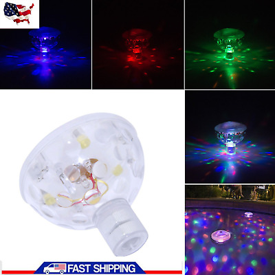 Floating Underwater RGB LED Disco Light Glow Show Swimming Pool Tub Spa Lamp US