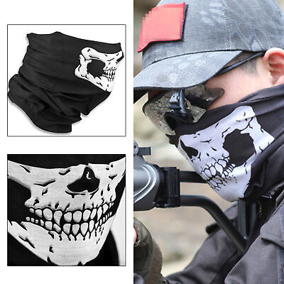 Skeleton Ghost Skull Face Mask Biker Balaclava Costume Halloween Cosplay Mask BO