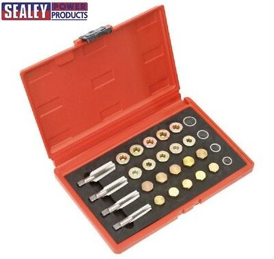 Sealey VS660 Engine Oil Sump Gearbox Drain Plug Damaged Thread Repair Set M13-20