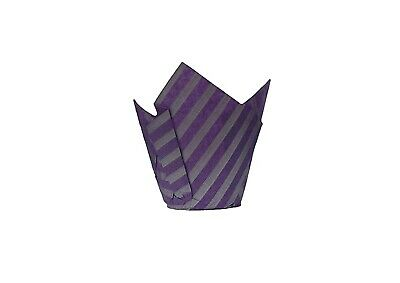 50 Purple & Silver Patterned Tulip Shaped Muffin Cake Cases Wraps for Baking