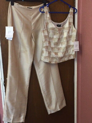 Nwt Paz Torez Trouser And Cami Size 12 - Rspca Charity