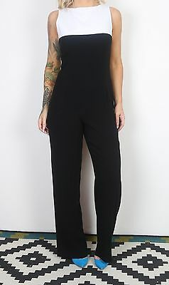 Jumpsuit UK 10 Small  All in one 1980's Vintage  80's (65A)