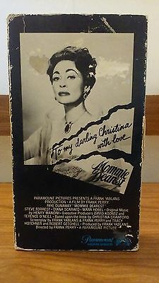 Mommie Dearest 1981 VHS Paramount 1st release!/Gatefold Very Rare!