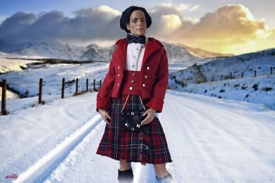 """Winter/christmas   Scottish Kilt Complete Outfit For The Male """"17 Dolls Ooak"""