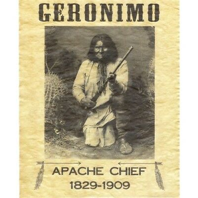 GERONIMO APACHE  CHIEF 1829-1909 8 X 10 Poster Old West Bar/Pub Wall Decor 37954