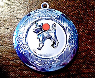 CHIHUAHUA PHOTO LOCKET Pendant w Sterling Silver 925 Chain Necklace dog pet