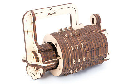 S.T.E.A.M. Line UGears Mechanical Models 3-D Wooden Puzzle - Combination Lock